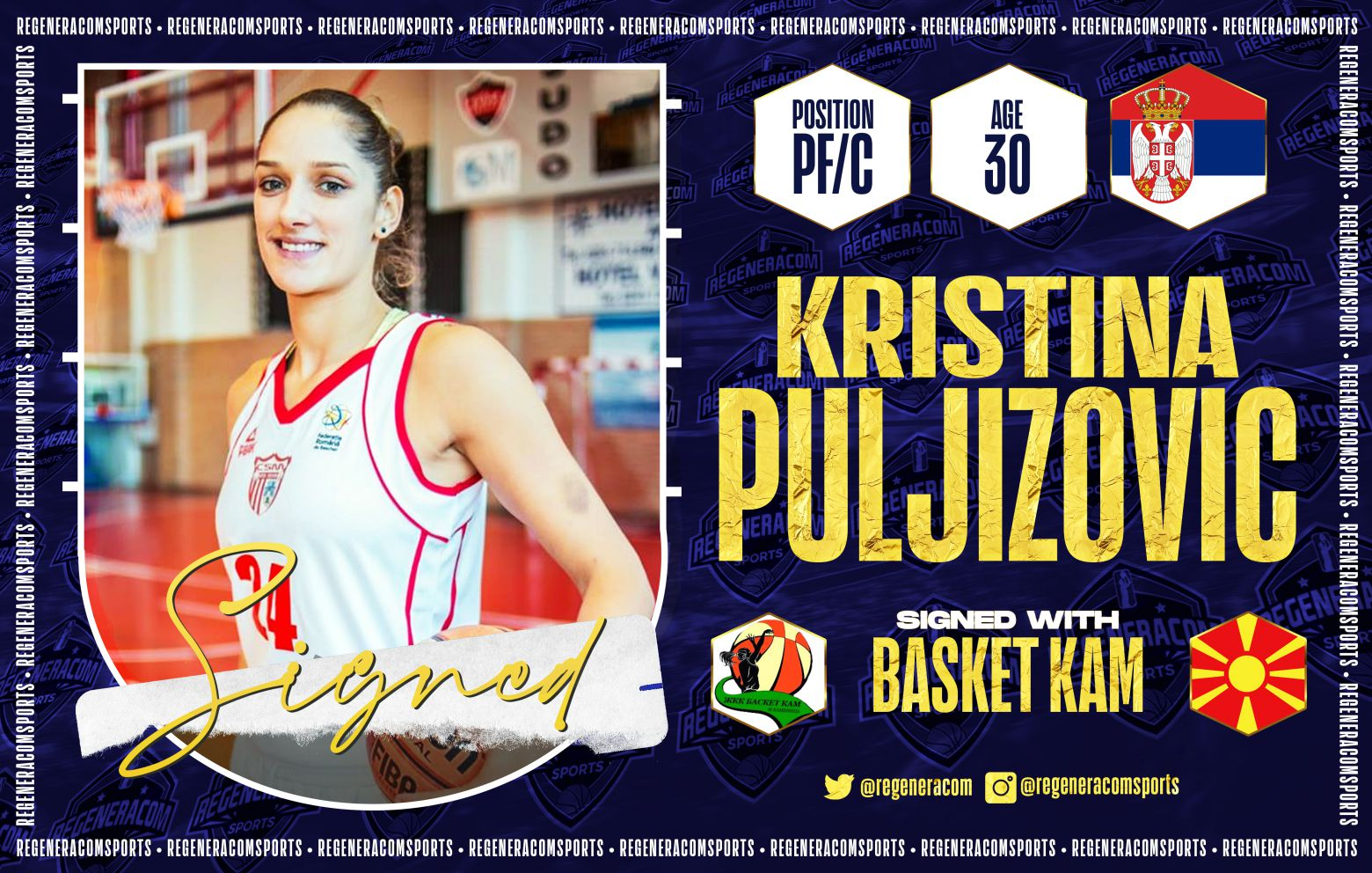 KRISTINA PULJIZOVIC ha firmado con Basket KAM para la temporada 2021/22