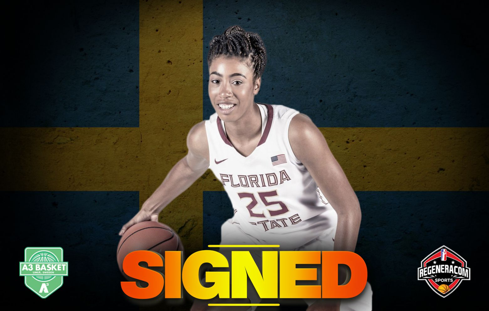AMA DEGBEON has signed in Sweden with A3 Basket Umea