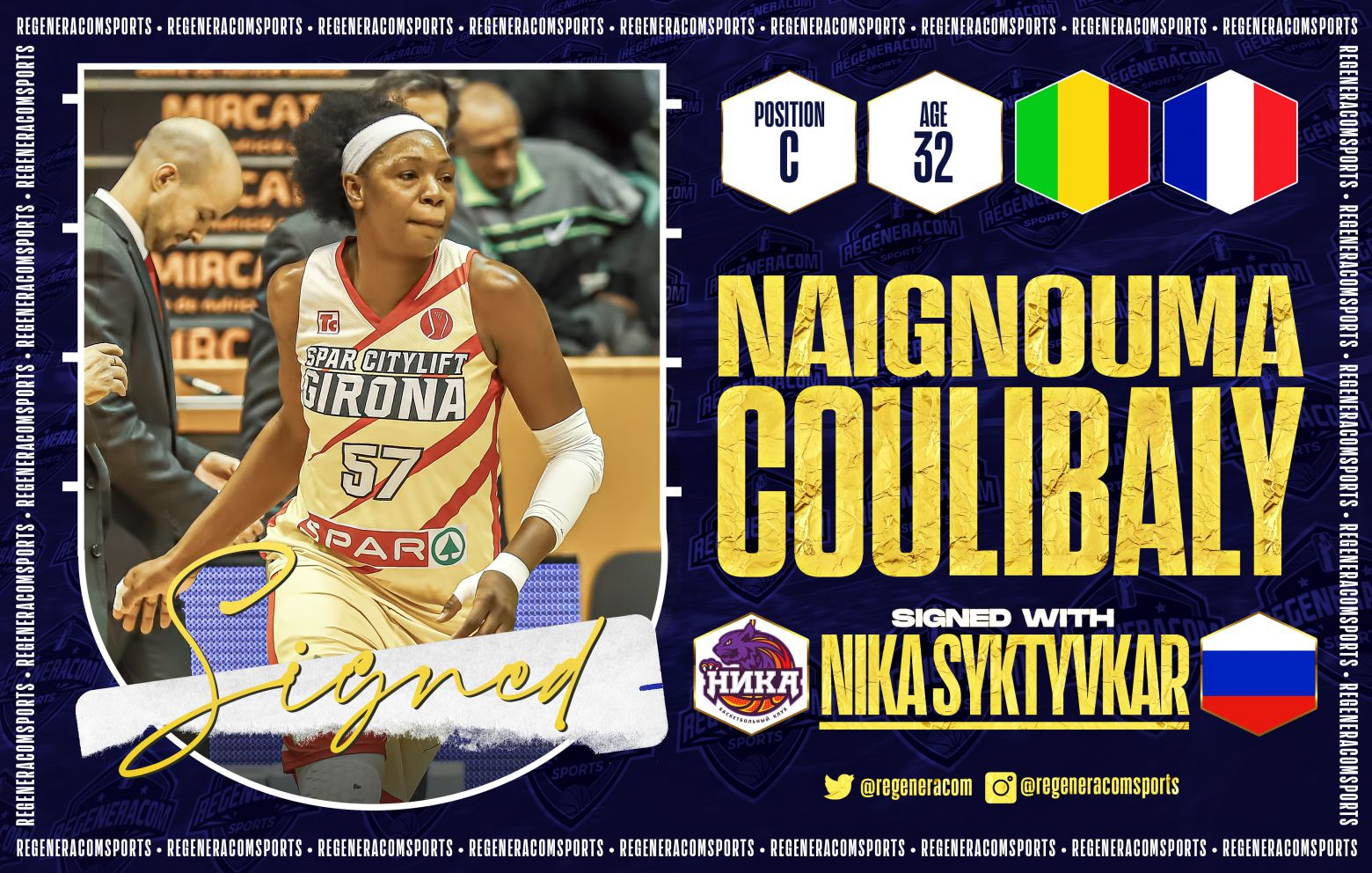 MIMA COULIBALY has signed in Russia with NIKA Syktyvkar for the 2021/22 season