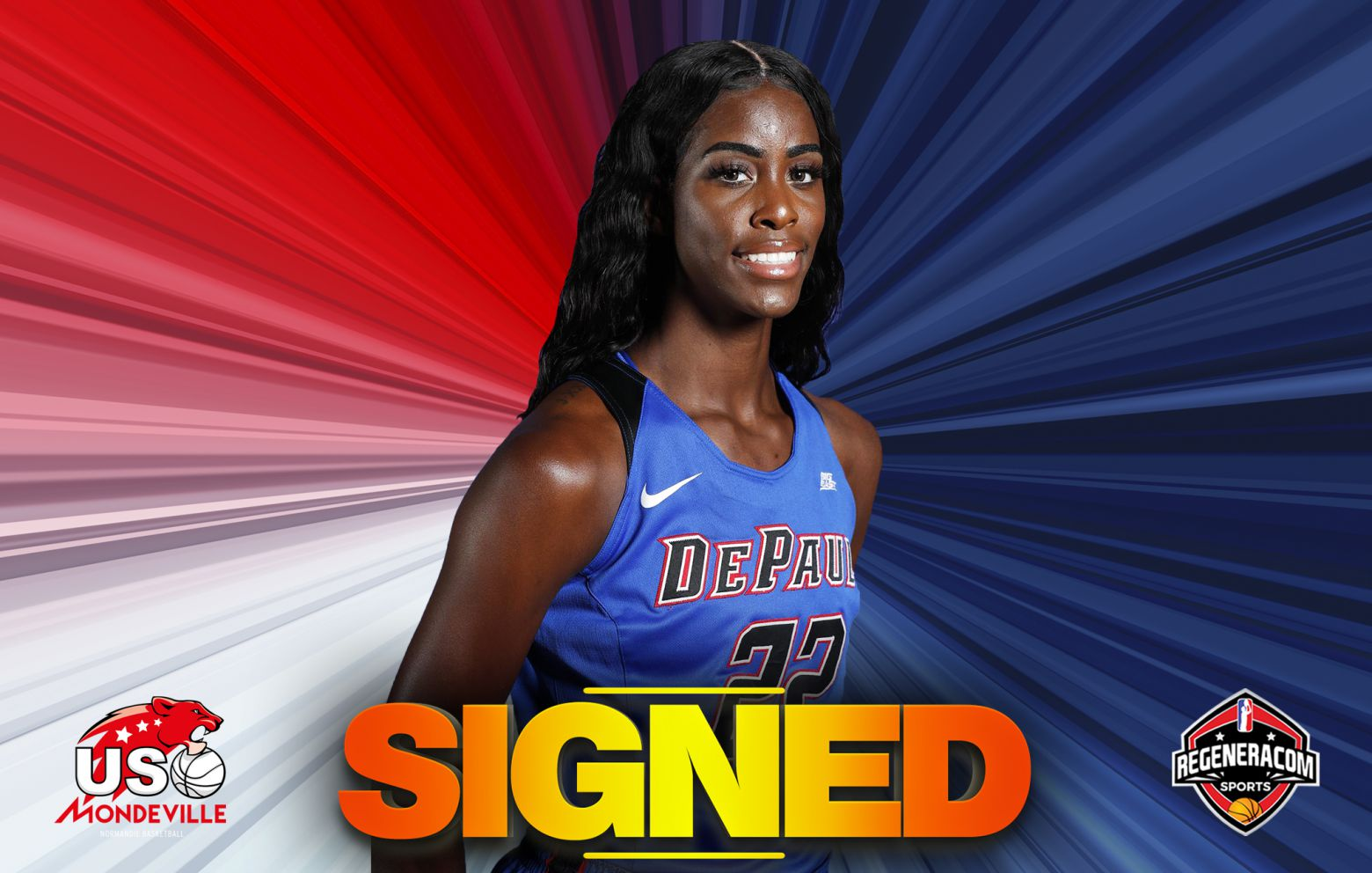 CHANTE STONEWALL has signed in France with Mondeville