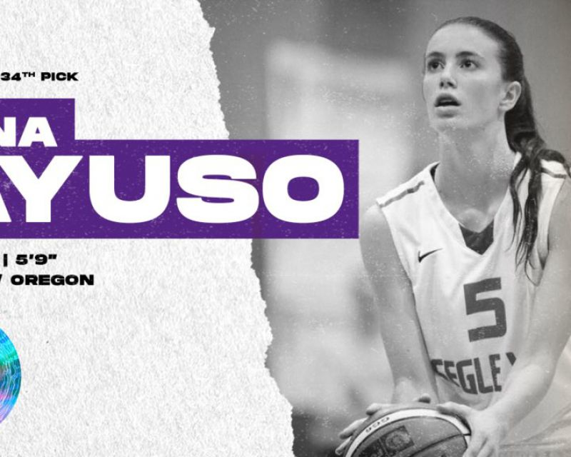AINA AYUSO has been selected with the 34th pick in the 2021 WNBA Draft by the Los Angeles Sparks