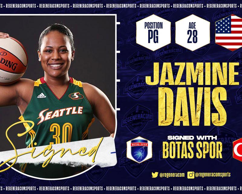 JAZMINE DAVIS has signed in Turkey with Botas for the 2021/22 season