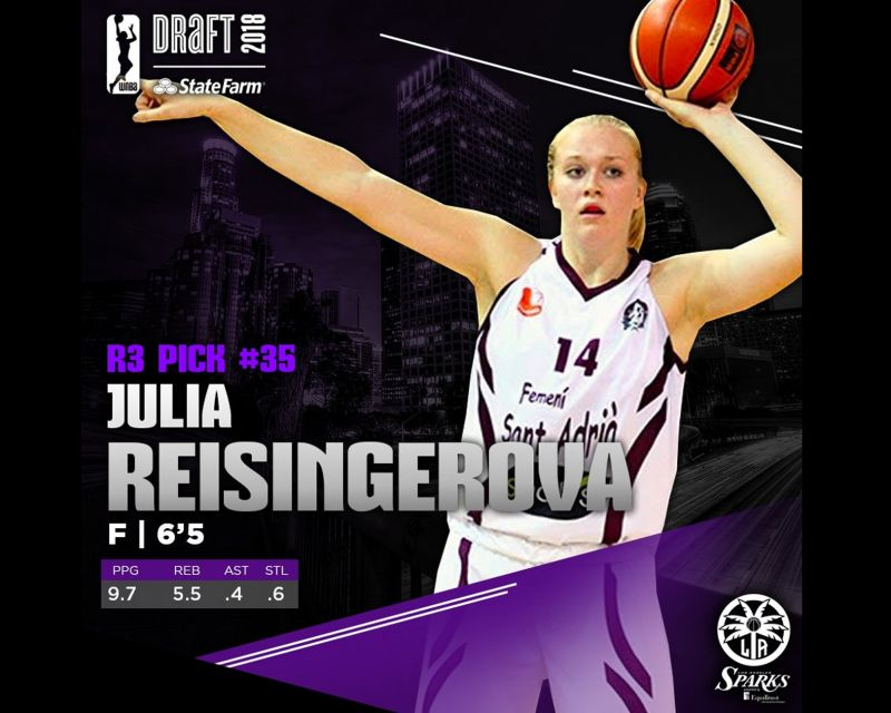 JULIA REISINGEROVA, 35h pick in the 2018 WNBA Draft by Los Angeles Sparks